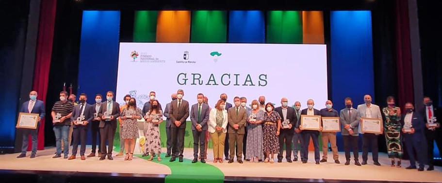 Premio Medio Ambiente CLM 2021: Imagen con todos los premiados.